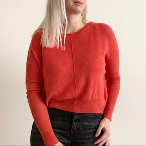 Aritzia Wilfred Red Relaxed Sweater Top